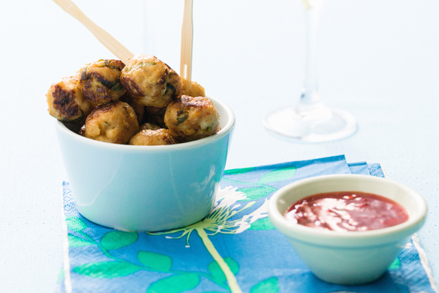 Asian Chicken Meatballs Image 1