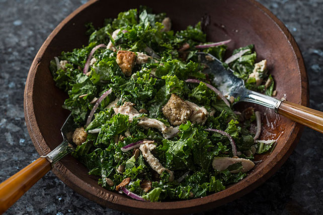 Kale-Chicken Caesar Salad for Two