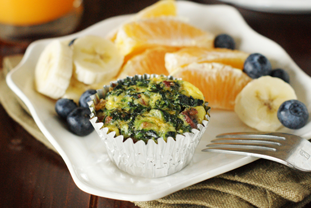Bacon & Spinach Breakfast Casserole Cups Image 1
