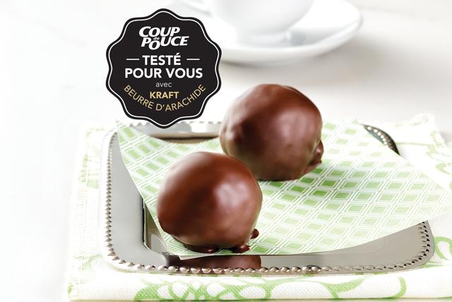 Bouchées croquantes au beurre d'arachide enrobées de chocolat Image 1