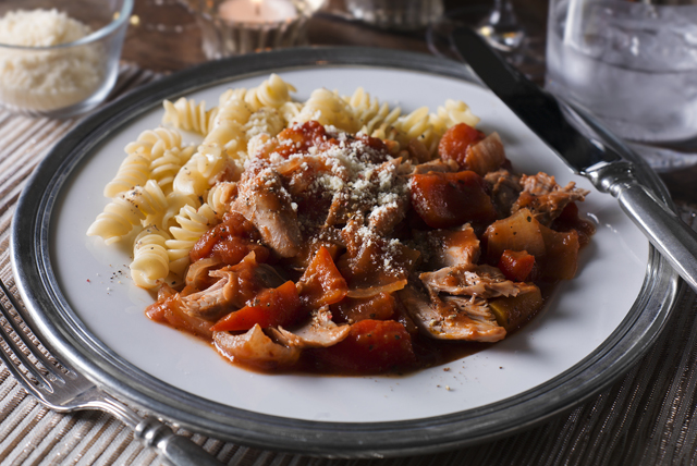 Slow-Cooker Turkey Leg Cacciatore Image 1