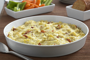 Hot Artichoke, Caramelized Onion and Bacon Dip