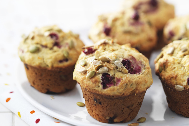 Peanut Butter-Cranberry Muffins Recipe - Kraft Canada