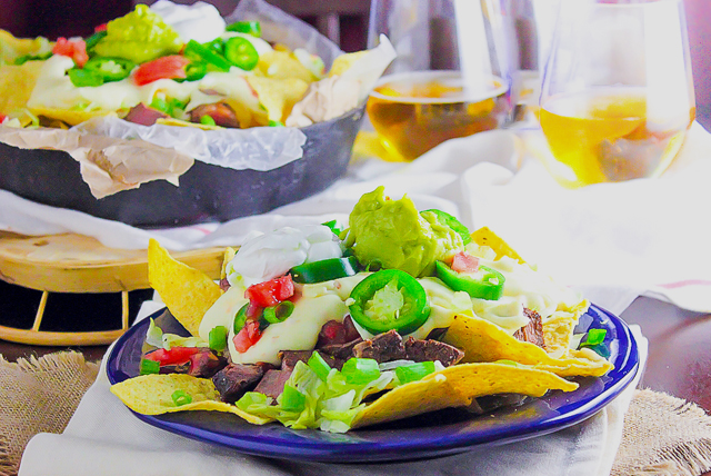 Steak and Jalapeño Cheese Tailgate Nachos Image 1