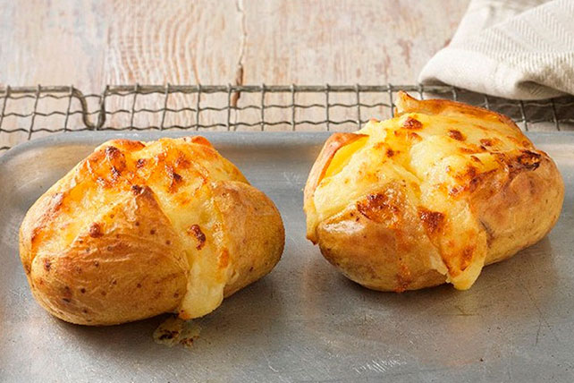 Cheddar Cheesy Baked Potatoes