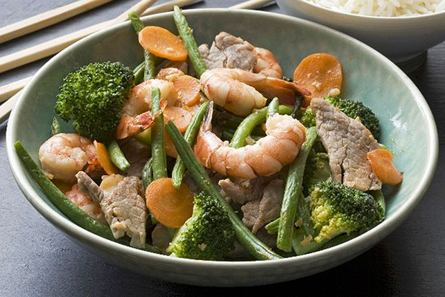 Quick Pork and Shrimp Stir-Fry Image 1