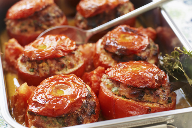 Meatloaf-Stuffed Tomatoes