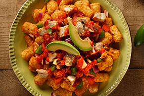 Chicken Enchiladas Totchos