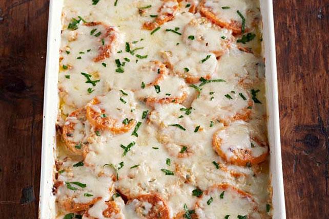 Camotes gratinados con queso Image 1