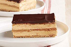 Postre con relleno de calabaza y chocolate estilo pastel