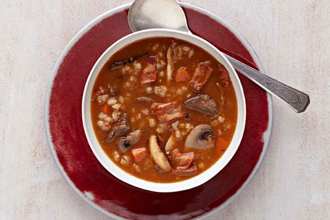 Hearty Mushroom-Beef-Barley Soup Image 1