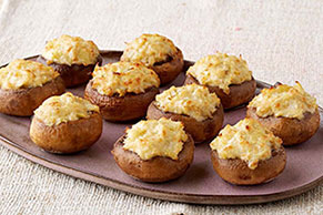 Artichoke Dip-Stuffed Mushrooms