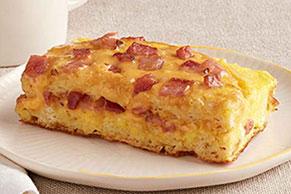 Easy Waffle Ham & Cheese Bake