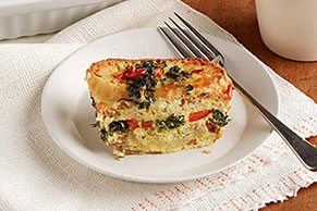 Cheese & Veggie Egg Bake