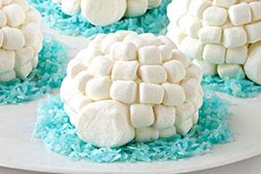 Pastelitos iglú estilo cupcakes