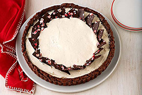 Black and White Peppermint Tart