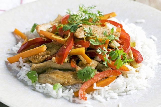 Asian Chicken-Rice Stir-Fry with Peppers Image 1