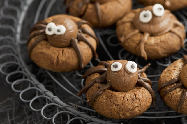 Biscuits araignées au beurre d'arachide et au chocolat Image 1