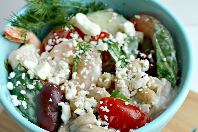Mediterranean Shrimp Pasta Salad Image 1