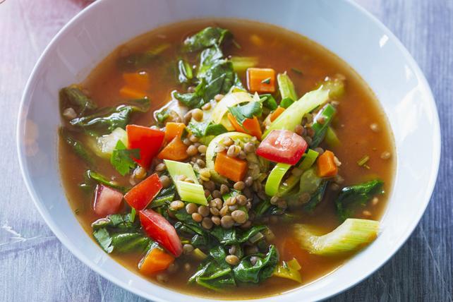 Soupe aux lentilles et aux légumes Image 1