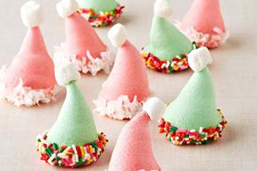 JELL-O Santa Hat Cookies
