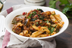 Lamb and Eggplant Bolognese Pasta