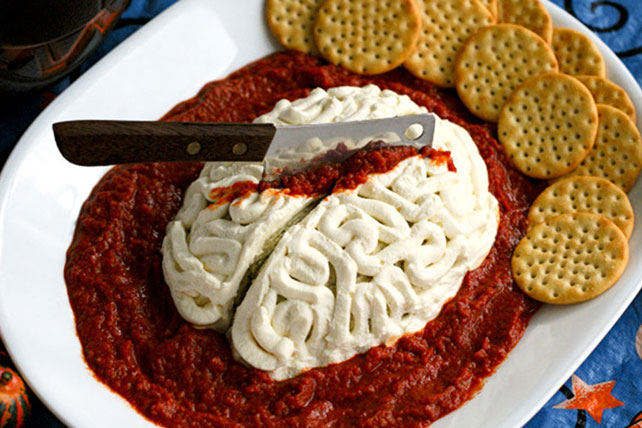 Zombie Brain Cheese Ball