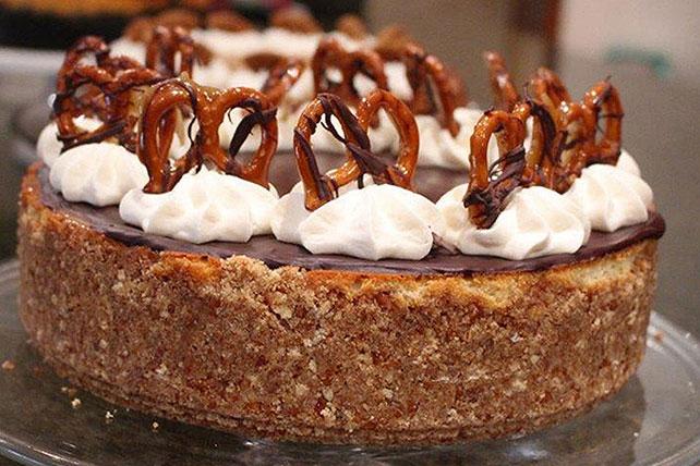 Cheesecake de caramelo y preztels Image 1