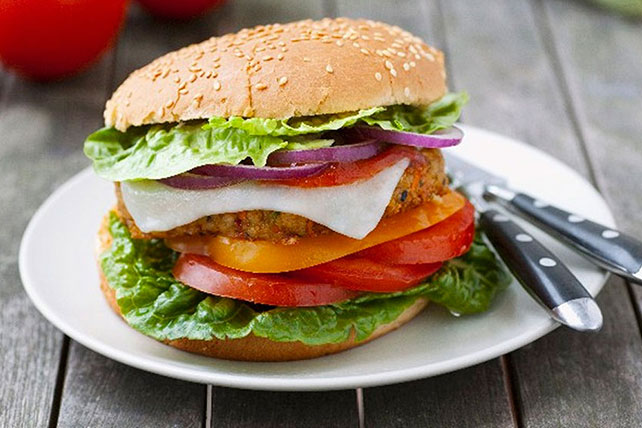 Stacked Chicken Cheeseburger Image 1