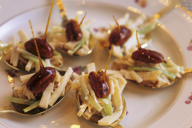 Waldorf Salad on Spoons Image 1