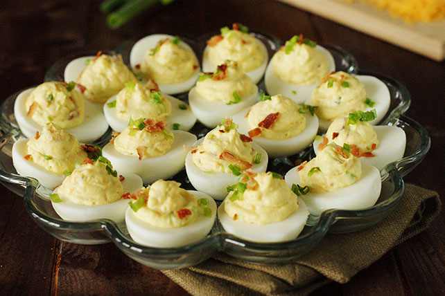 Cheddar-Bacon Deviled Eggs Image 1