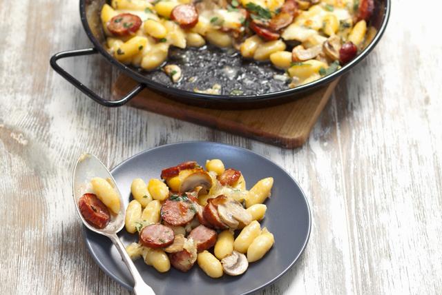 Gnocchis à la saucisse, aux champignons et au mozzarella Image 1