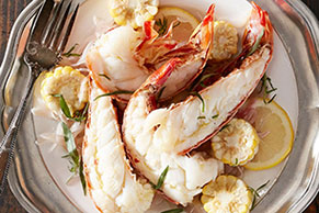 Tarragon and Lemon Lobster Scampi