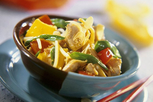 Asian Chicken, Vegetable and Almond Stir-Fry