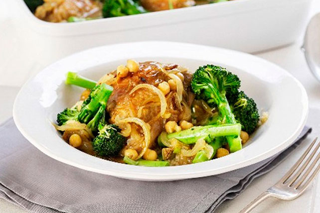 Asian Chicken with Broccoli & Chickpeas