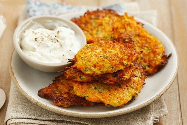 Carrot and Zucchini Fritters Image 1