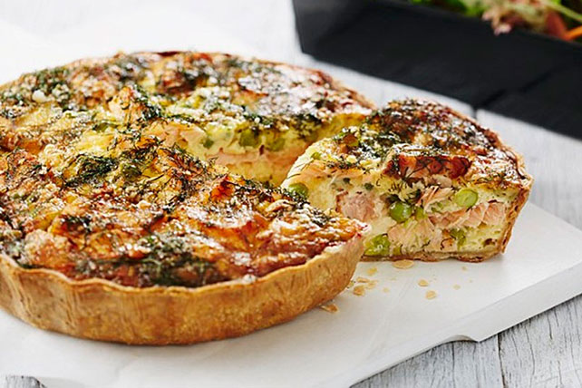 Salmon Quiche Recipe Image 1