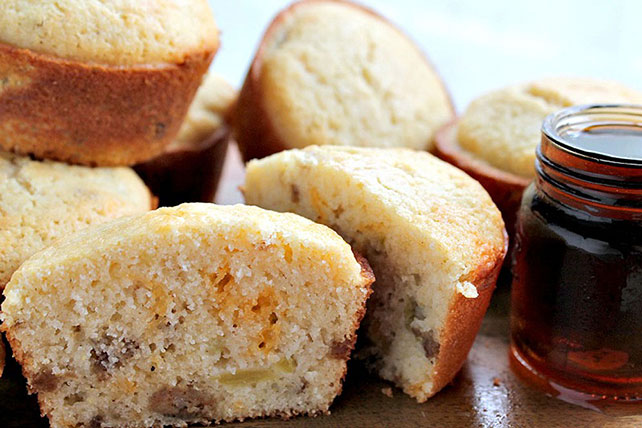 Maple and Sausage Corn Muffins