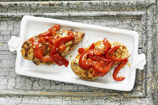 Grilled Chicken Breast with Roasted Red Peppers Image 1