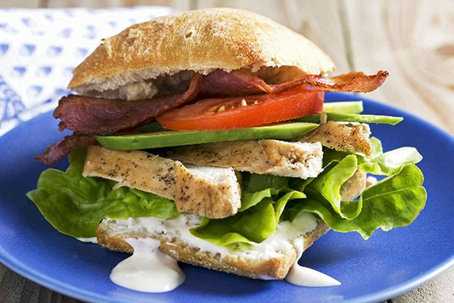 California Chicken Club Sandwiches Image 1