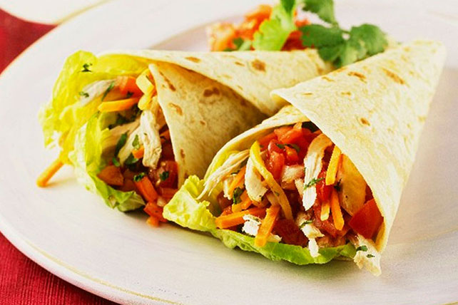 Chicken and Vegetable Wraps Image 1