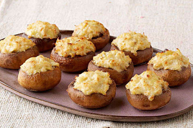 Artichoke Dip-Stuffed Mushrooms Image 1