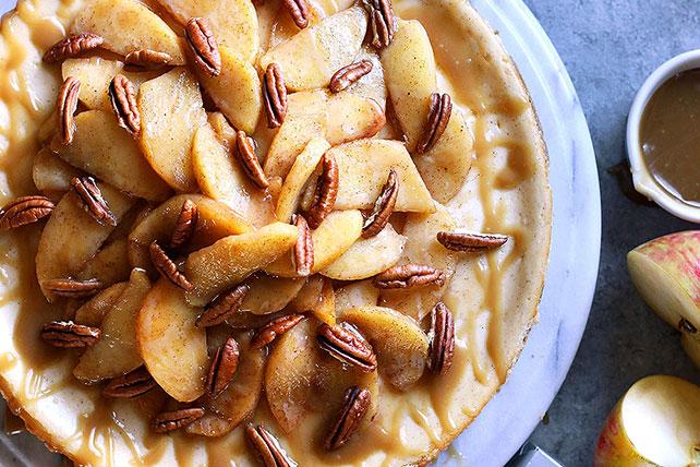 Caramel- Apple Pecan Cheesecake Image 1