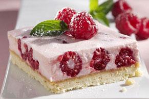 Raspberry Mousse Bars