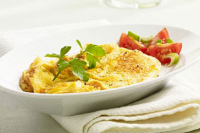 Scrambled Eggs with Fresh Tomato Salad