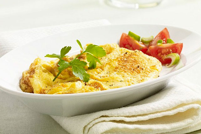 Scrambled Eggs with Fresh Tomato Salad Image 1