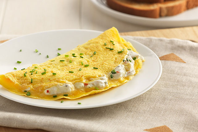 Creamy Garden Vegetable Omelet Image 1