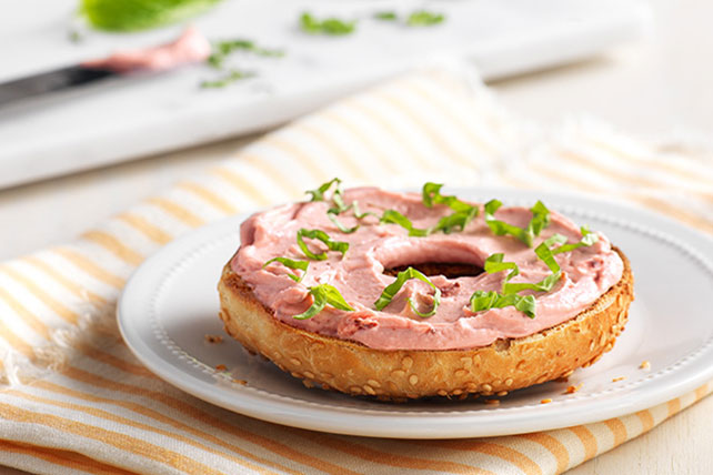 Basil-Strawberry Bagel