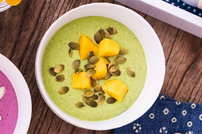 Tropical Green Smoothie Bowl Image 1