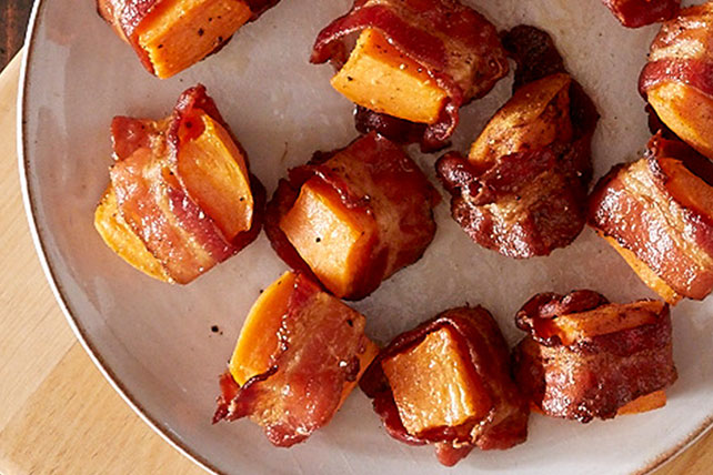 Bacon Wrapped Sweet Potato Bites Image 1